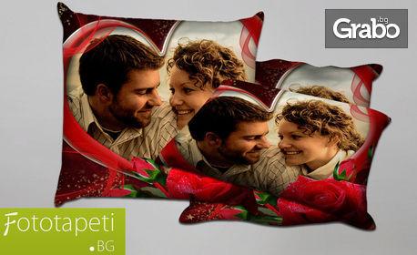Декоративна възглавничка с двустранен печат, със снимка на клиента