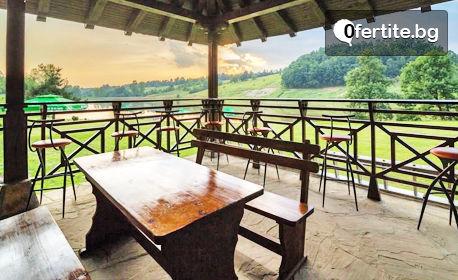 Почивка край Елена, на брега на язовир Палици! Нощувка със закуска и вечеря за до четирима, с възможност за риболов