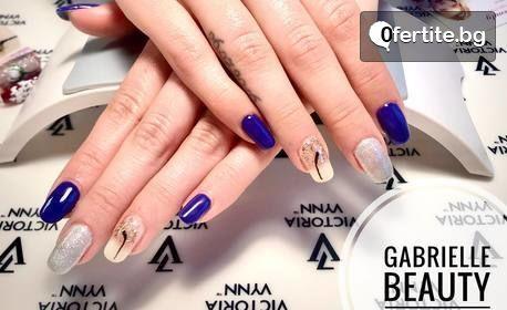 Цветни нокти! Маникюр с гел лак и 2 декорации или педикюр с гел лак