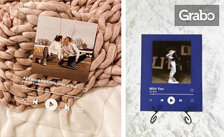 Spotify снимка с изображение и надпис по избор