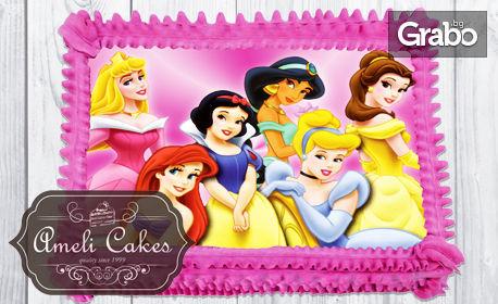 Домашна торта с пандишпанови блатове, лек млечен крем и сметанов борд - по избор от каталог