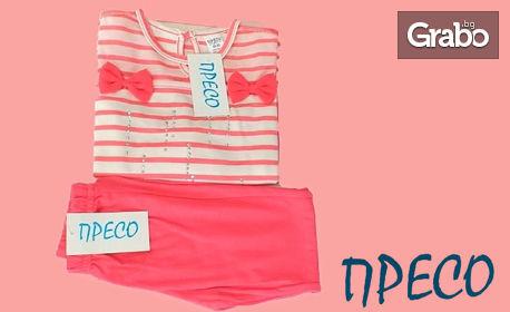 """Детски комплект за момиче """"Панделки"""" в розов цвят и размер по избор"""