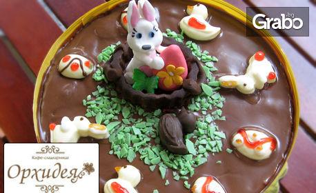 Вкусна торта с козунак или с крем брюле за Великден или Цветница