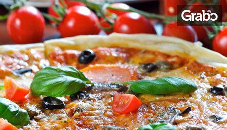 Хрупкава пица на пещ и салата, по избор