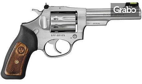 Стрелба в коридор с револвер Ruger, с 25 патрона и напътствия от инструктор