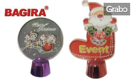 За подарък! Светеща фигура с Дядо Коледа