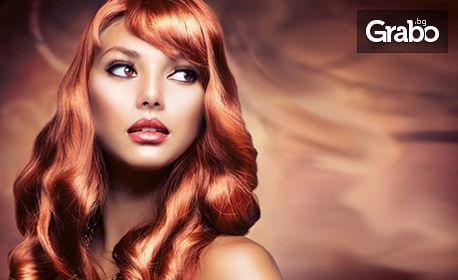 Терапия за коса с ампула или боядисване с професионална боя, плюс подстригване и оформяне