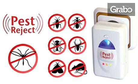 Ултразвуков уред против гризачи и насекоми Pest Reject