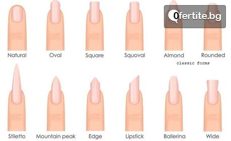 Ноктопластика с удължители или изграждане, укрепване на естествени нокти или поддръжка, плюс 2 декорации