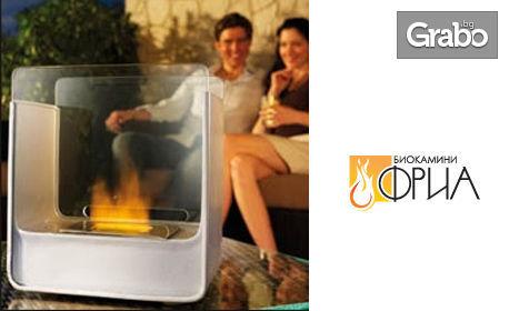 Декоративен сет за отопление с биоетанол, подходящ за стандартна камина