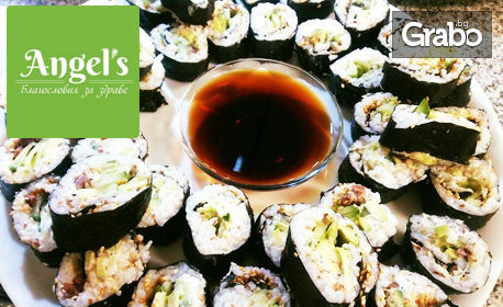 За вкъщи или за офиса! 10 хапки веге суши, плюс веганска разядка и салата по избор