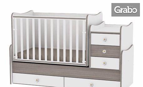 Трансформиращо се детско легло-люлка Lorelli Classic Maxi Plus - цвят по избор