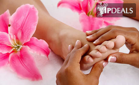 Масаж на цяло тяло на 4 ръце, плюс рефлексотерапия на стъпала