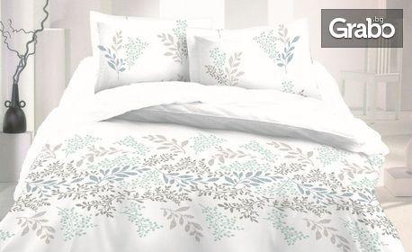 Луксозен спален комплект от сатениран памук в размер и десен по избор - с плик или олекотена зимна завивка