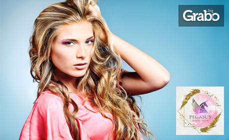 Възстановяваща терапия за коса с ампула Milk Shake, плюс подстригване и изправяне с инфраред преса
