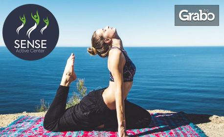 Месечна карта за 8 посещения на Power Yoga и In Yoga