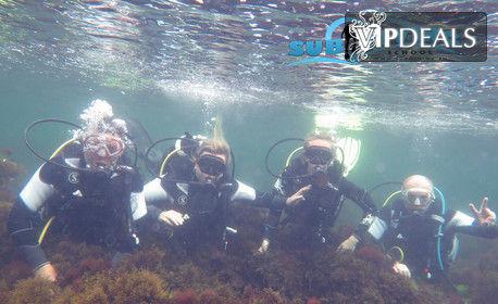 Приключение в морски парк Дюни! Водолазнo гмуркане с екипировка и инструктор, плюс видеозаснемане