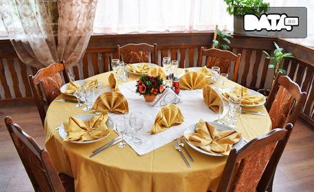 През Май и Юни край Костенец! 5 нощувки със закуски, обеди и вечери, плюс медицински преглед и по 3 процедури на ден