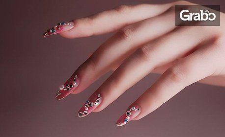 Траен маникюр! UV гел върху естествен нокът, лакиране и декорация