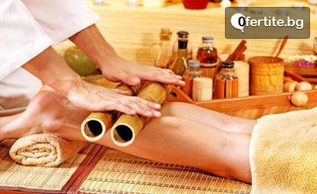 Креолски бамбуков масаж на цяло тяло, плюс масаж на глава