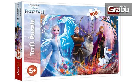 """Коледен подарък за децата! Пъзел """"Замръзналото кралство 2"""" със 100 части"""