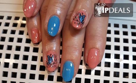 Красиви нокти! Маникюр с гел лак Kodi Professional, плюс 2 декорации