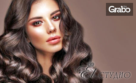 Луксозна терапия за коса с канабис плюс масажно измиване и оформяне със сешоар