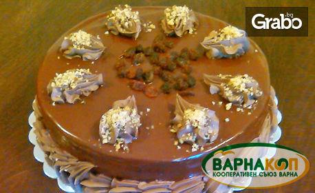 Торта по избор - Сахер или бишкотена с вишни