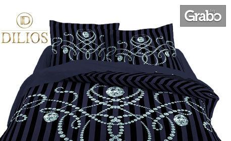 Спален комплект от памучен сатен - единичен, двоен или макси в пет части