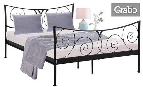 Легло с метална рамка Domus Scandinavia Isabelle