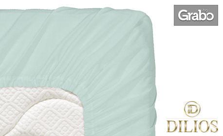 Чаршаф с ластик от памучно трико, в размер и цвят по избор