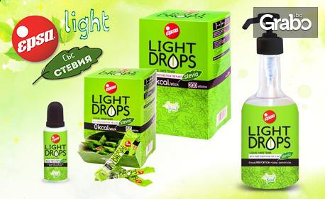 Натурален течен подсладител Light Drops със стевия, сироп от агаве и оризов сироп