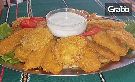 2кг хрупкави пилешки филенца и пържени картофки
