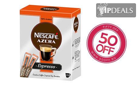 4 кутии инстантно Nescafe Azera Espresso, 100% Arabica - с по 25 пакетчета