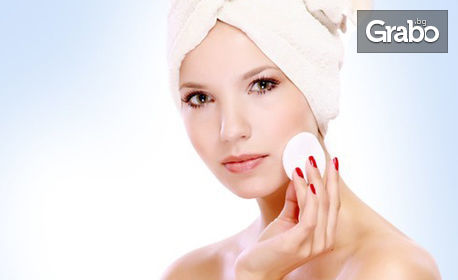 Почистване на лице, плюс терапия по избор