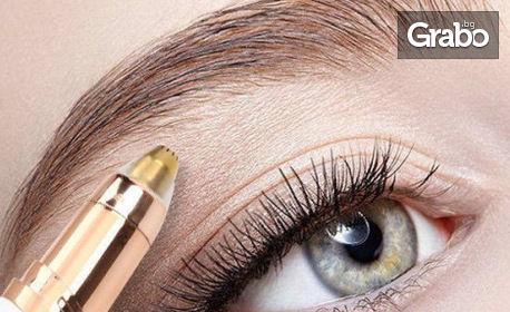 Унисекс уред за оформяне и премахване на космъчета на вежди с вградено осветление