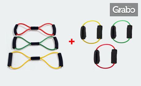 """Комплект """"Компакт Плюс"""" с 6 висококачествени двупластови тренировъчни ластика"""