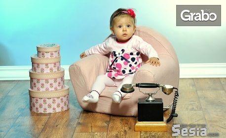 Семейна или детска студийна фотосесия със 160-180 кадъра