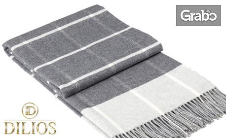 Одеяло Онтарио в цвят сиво каре