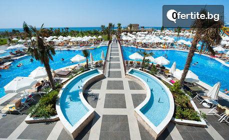 Луксозна почивка край Сиде! 7 нощувки на база Ultra All Inclusive в хотел Sea Planet Resort & SPA*****, плюс самолетен транспорт от София