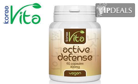 Хранителна добавка Active defense - веган капсули за чисти бели дробове