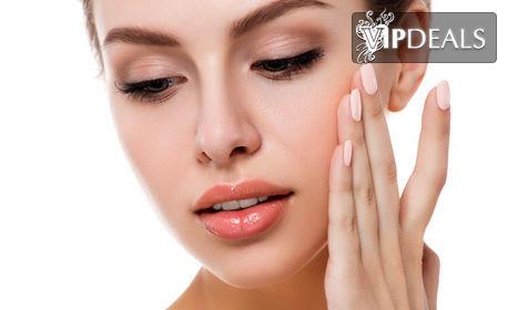 Дълбоко мануално почистване на лице, плюс успокояващ серум и хидратираща маска