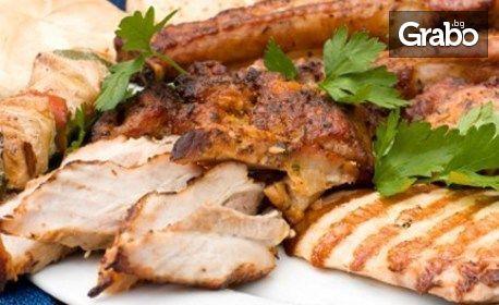 1.5кг Хайдушко плато със свинско, пилешко и пресни картофки