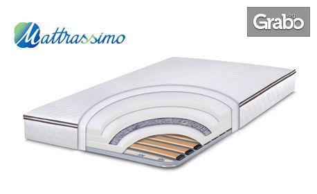 Еднолицев матрак Easy Memo Flex с вградена метална рамка, в размер по избор