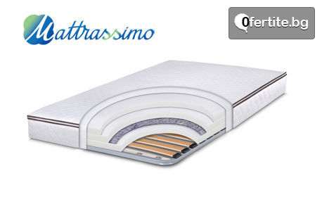 Еднолицев матрак Easy Flex с вградена метална рамка, в размер по избор