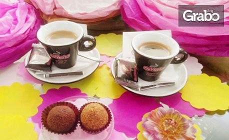 2 кафета Carraro или кана студен чай с джинджифил и цитрус, плюс 2 марленки