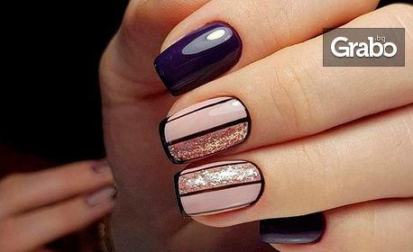 Красиви нокти! Маникюр с гел лак, плюс неограничен брой декорации, от Фризьорско студио Камелия