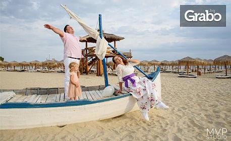 Плажна фотосесия с до 100 обработени кадъра - край Свети Влас