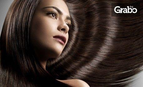 Кератинова терапия за коса с шоколад, плюс масажно измиване, подстригване и оформяне
