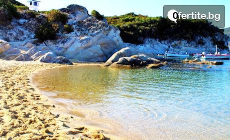 Морска почивка на полуостров Халкидики! 3 или 5 нощувки със закуски за двама в Каламици